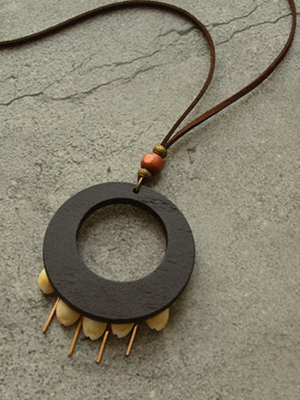 Retro National Woods Split-Joint Necklace