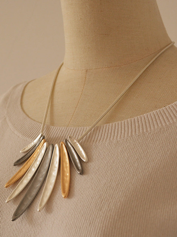 Simple Geometric Tassel Necklace Accessories