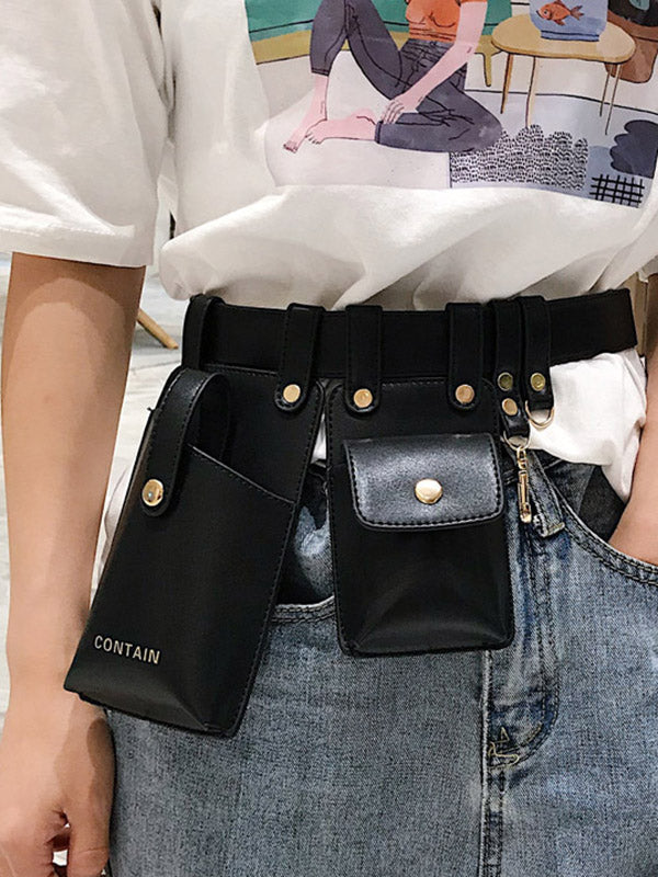 Trendy Belt Two Bags