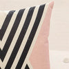 Pink Geometric Printed Pillow Case