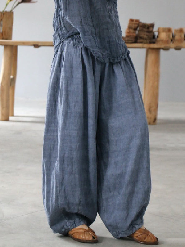 Super Loose Linen Bloomers