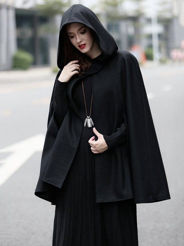3 Colors Loose Warm Short Cape Outwear