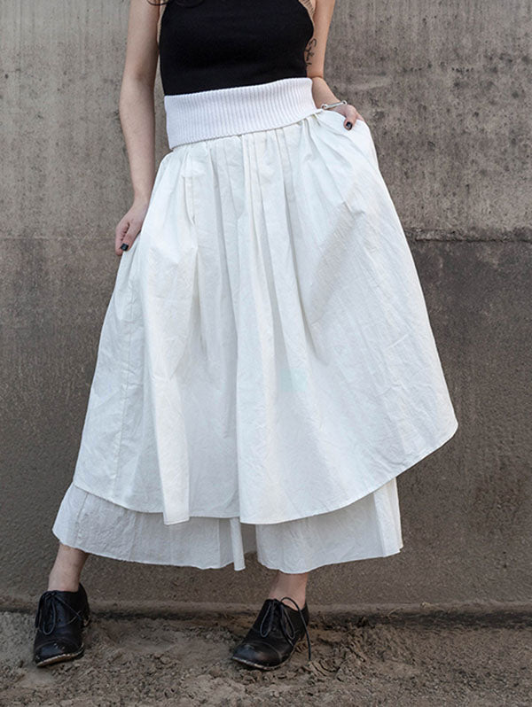 Simple White Bubble Skirt