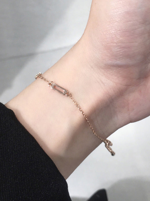Simple Split-joint Hollow Bracelet