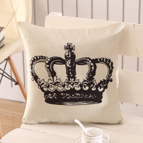 Crown Printed Pillow Case