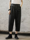 Loose Straight Leg Buttons Pants