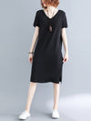 Casual Crossover Strap Neck Long Dress
