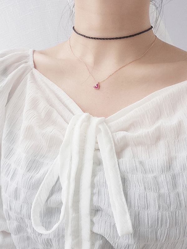 Fashion Heart Silver Necklace
