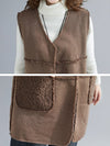 Solid Color Reversible Wear Wool Vest