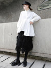 Casual Ruffled Cropped Shirt