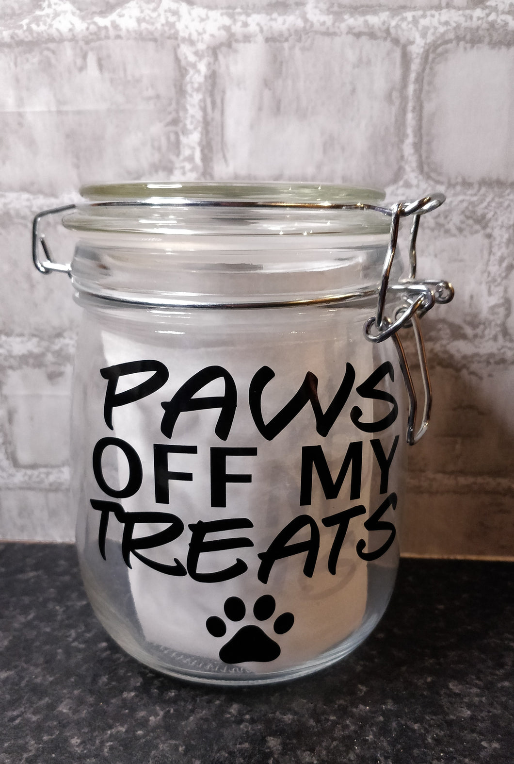 Paws Off Treat Jar