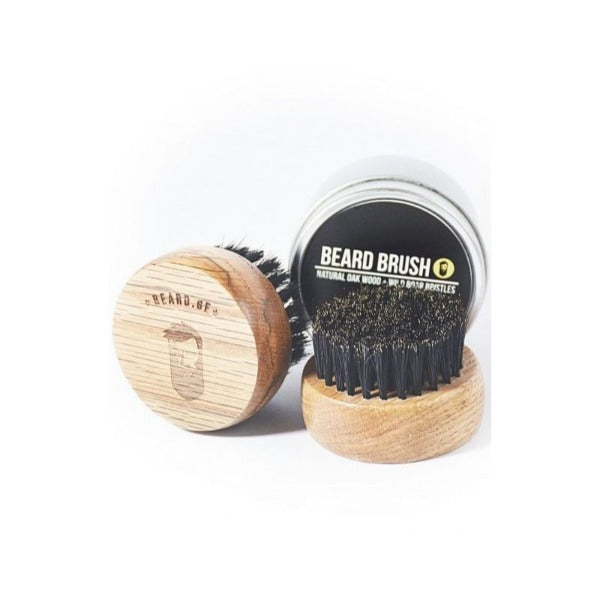 Beard Brush Natural Oak
