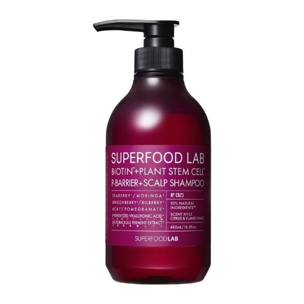 SUPERFOOD LAB Biotin + P-Barrier Scalp Shampoo