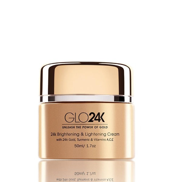 GLO24K Brightening & Lightening Cream with 24k Gold, Turmeric & Vitamins A,C,E