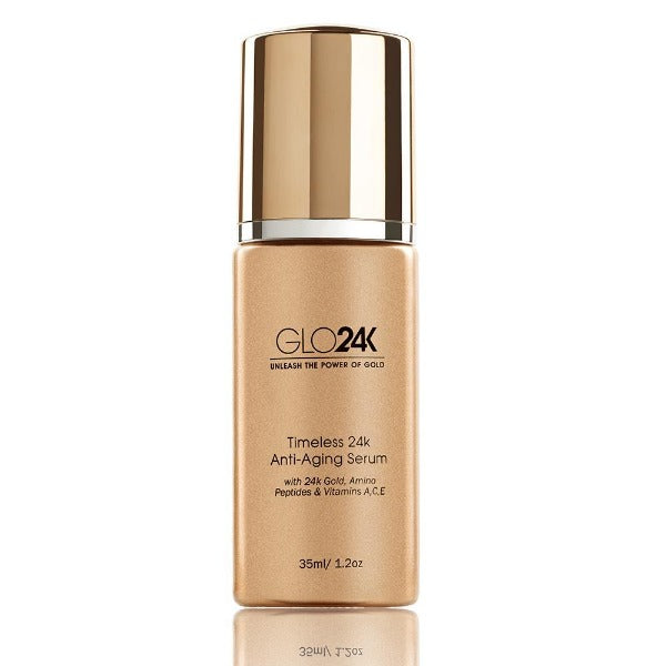 GLO24K 24k Gold Anti-Aging Serum with Vitamins C and E