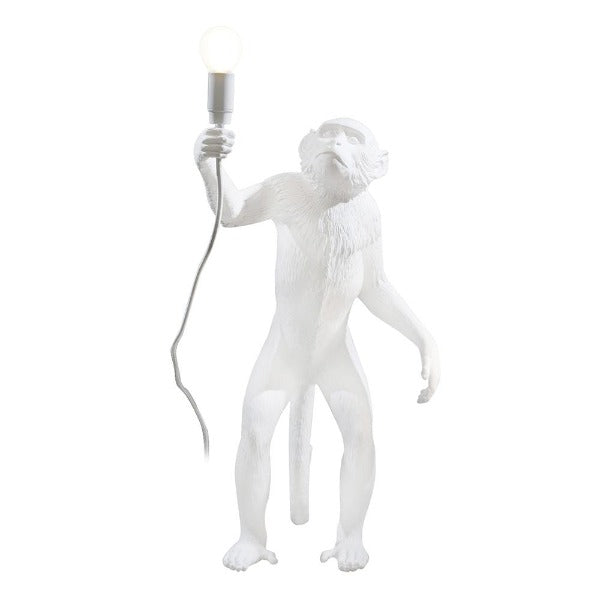 Monkey Lamp- Standing - White