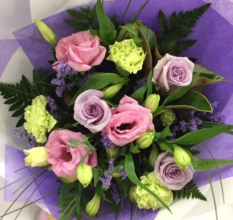 Purple & Green Posy