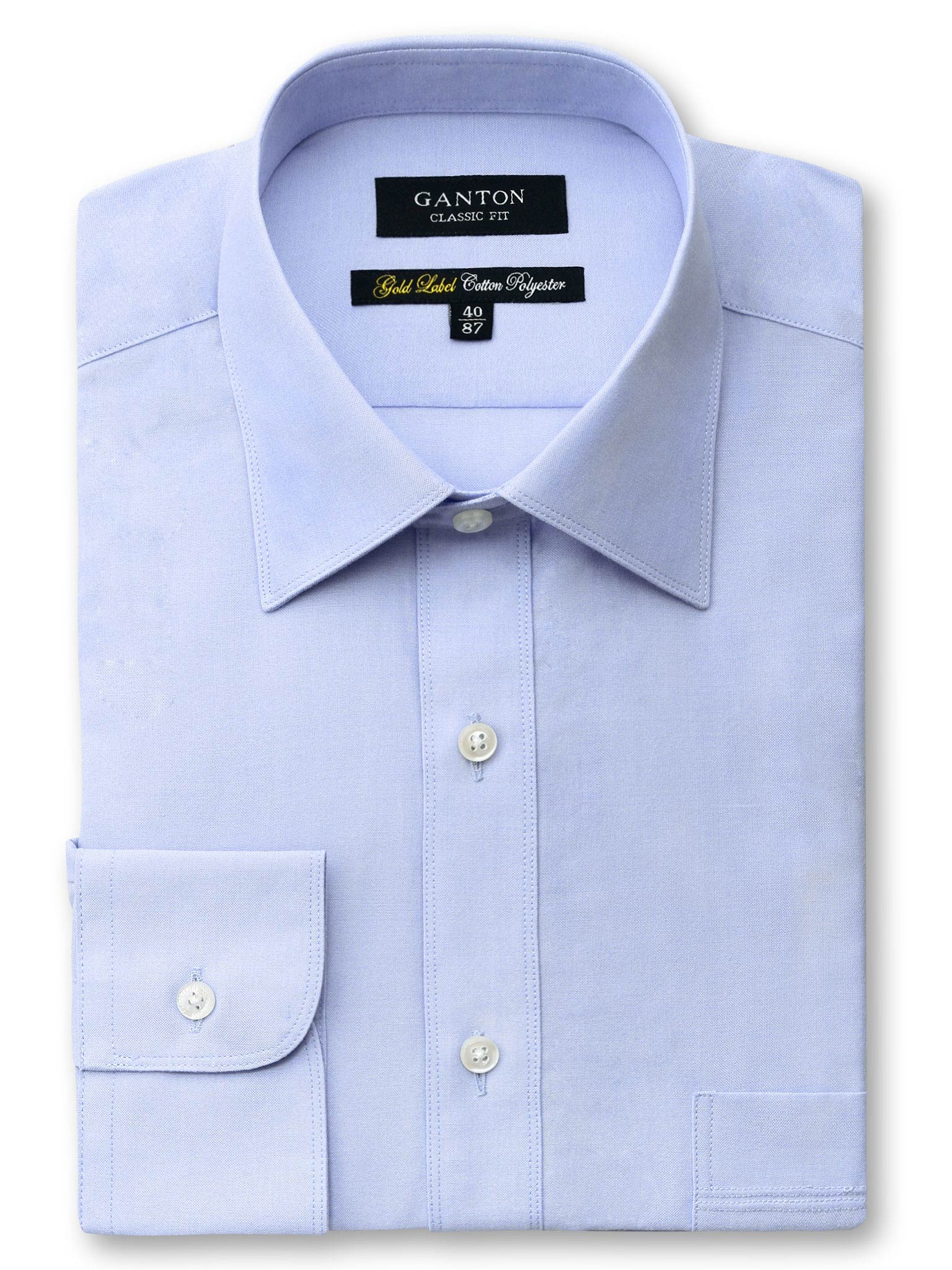 Blue Gold Label Classic Fit Cotton Polyester Shirt