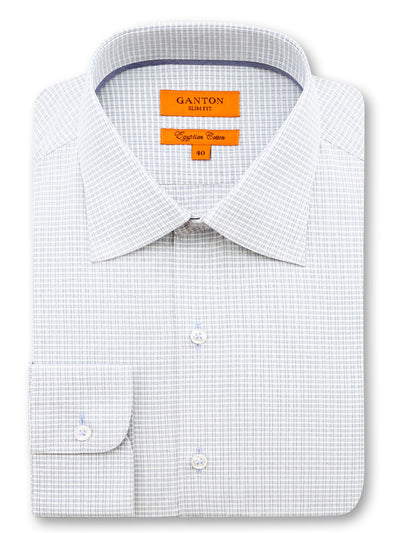 White Check Slim Fit Donovan Egyptian Cotton Shirt