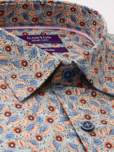 Pink Floral Liberty Print Tailored Fit Raphael Pure Cotton Shirt