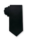 Black Plain 7cm Ganton Essentials Italian Silk Tie Made in Australia