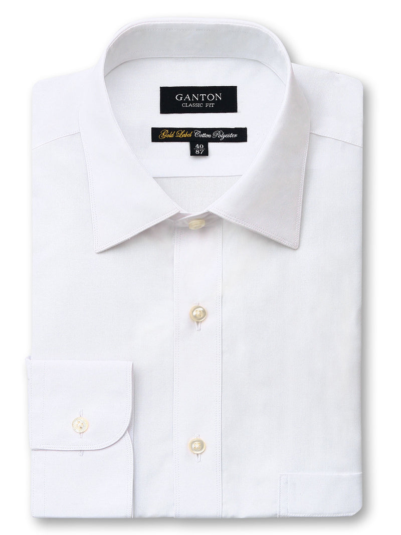White Gold Label Classic Fit Cotton Polyester Shirt