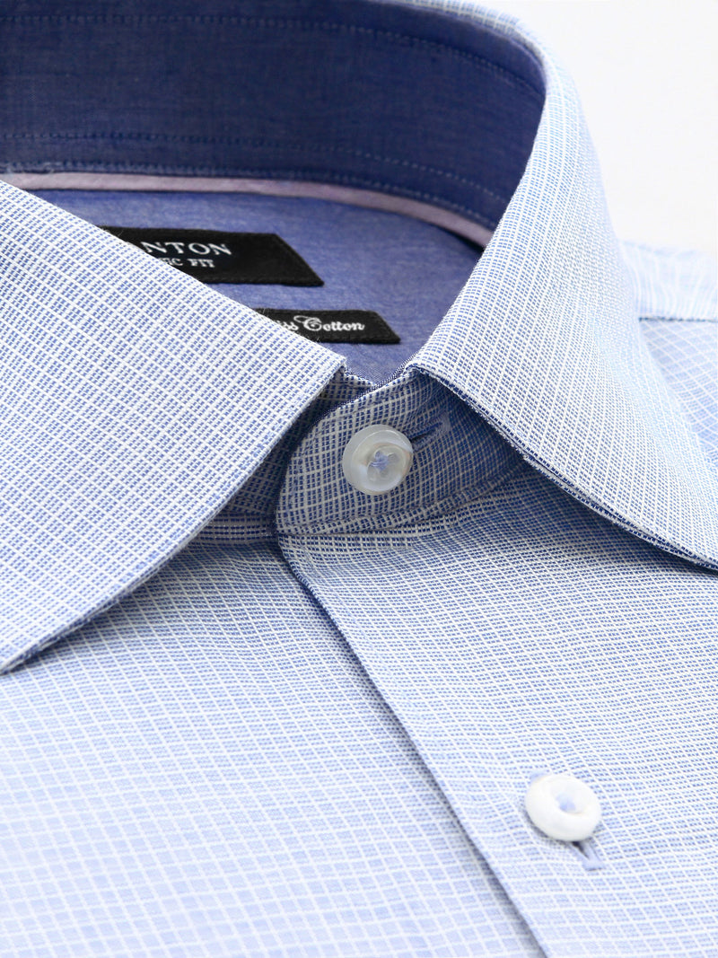 Blue Check Classic Fit Myles Pure Cotton Shirt