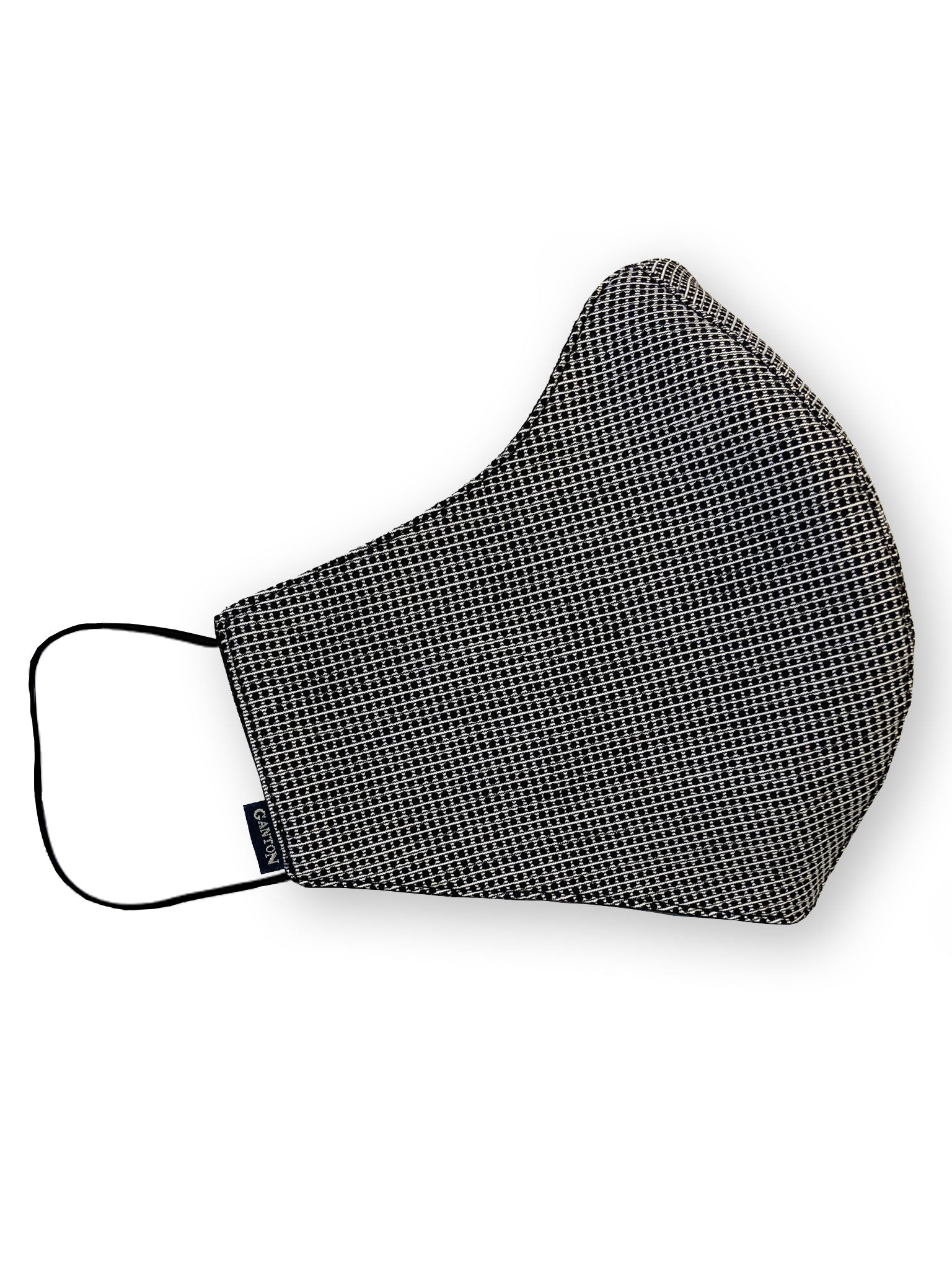 Black Check Reversible Four Layer Washable Face Mask