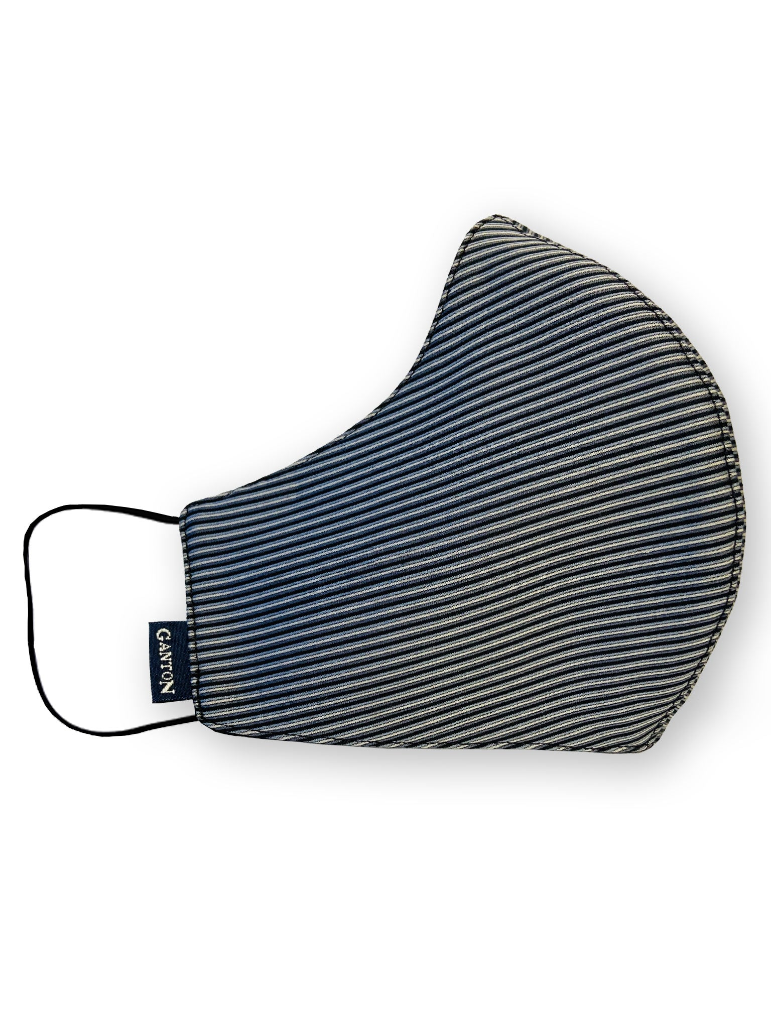 Black Stripe Reversible Four Layer Washable Face Mask