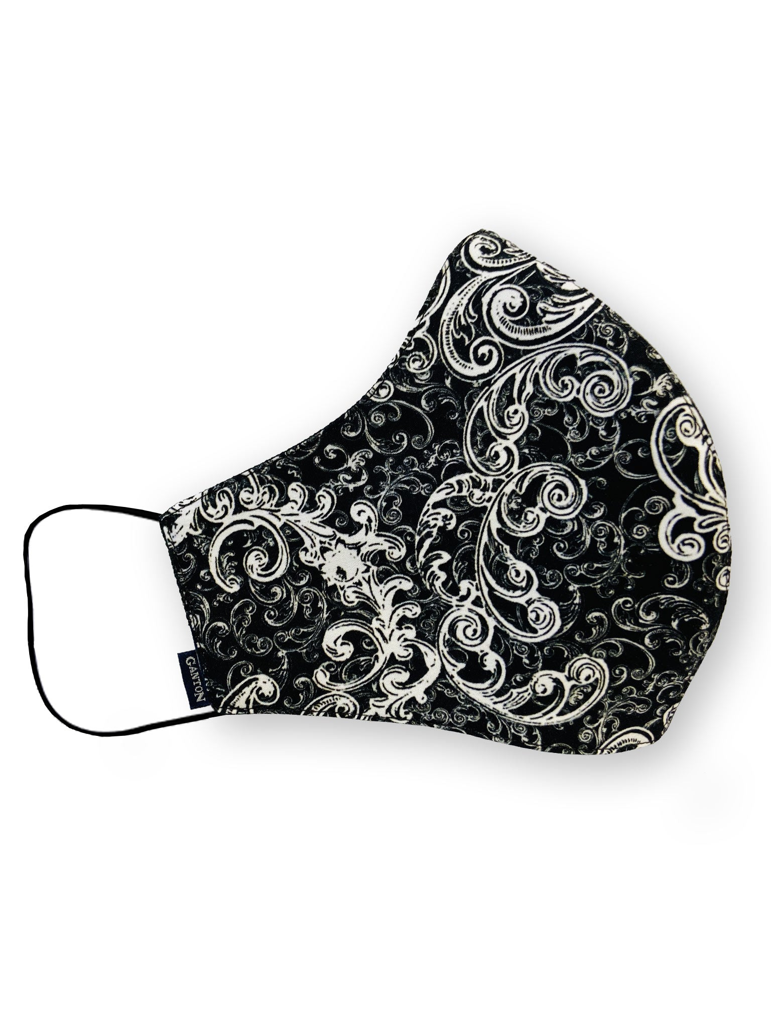 Black and White Print Reversible Four Layer Washable Face Mask