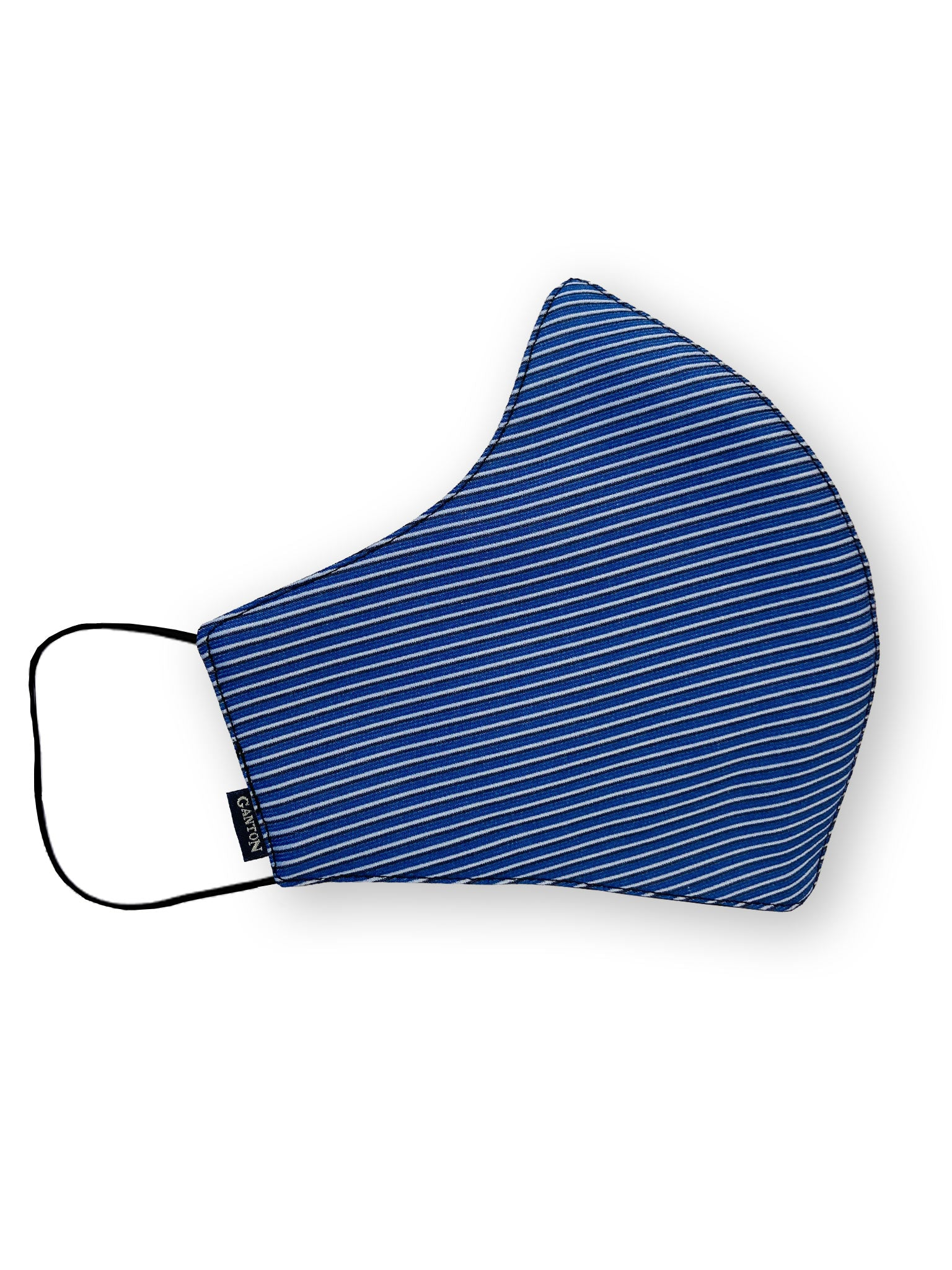 Blue Stripe Reversible Four Layer Washable Face Mask