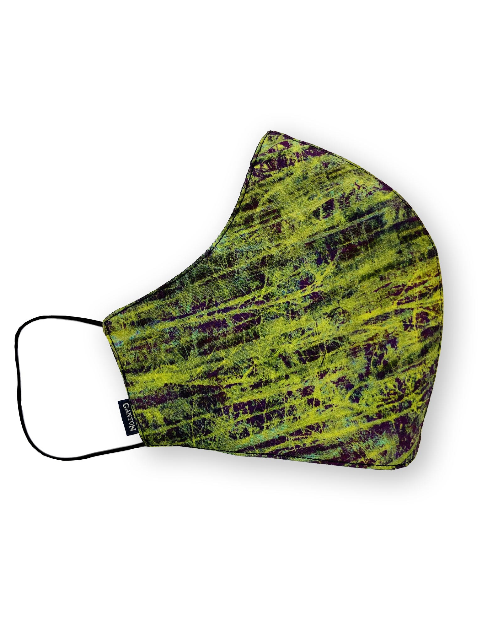 Green Design Print Reversible Four Layer Washable Face Mask