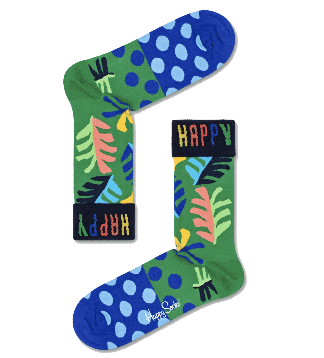 Happy Socks Big Leaf Sock