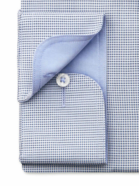 Navy White Check Tailored Fit Burton Egyptian Cotton Shirt