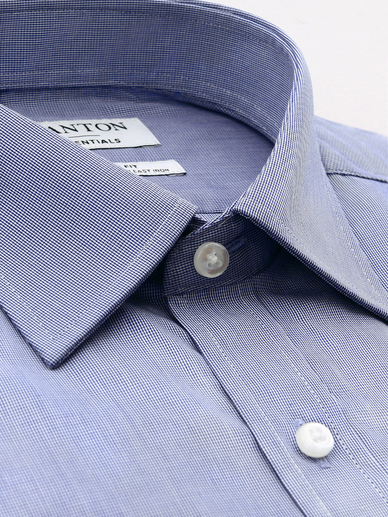 Navy Classic Fit Everest Easy Iron Superfine Cotton Essentials Shirt