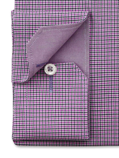Pink Check Tailored Fit Andrew Easy Iron Pure Cotton Shirt