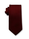 Red Plain 7cm Ganton Essentials Italian Silk Tie Made in Australia