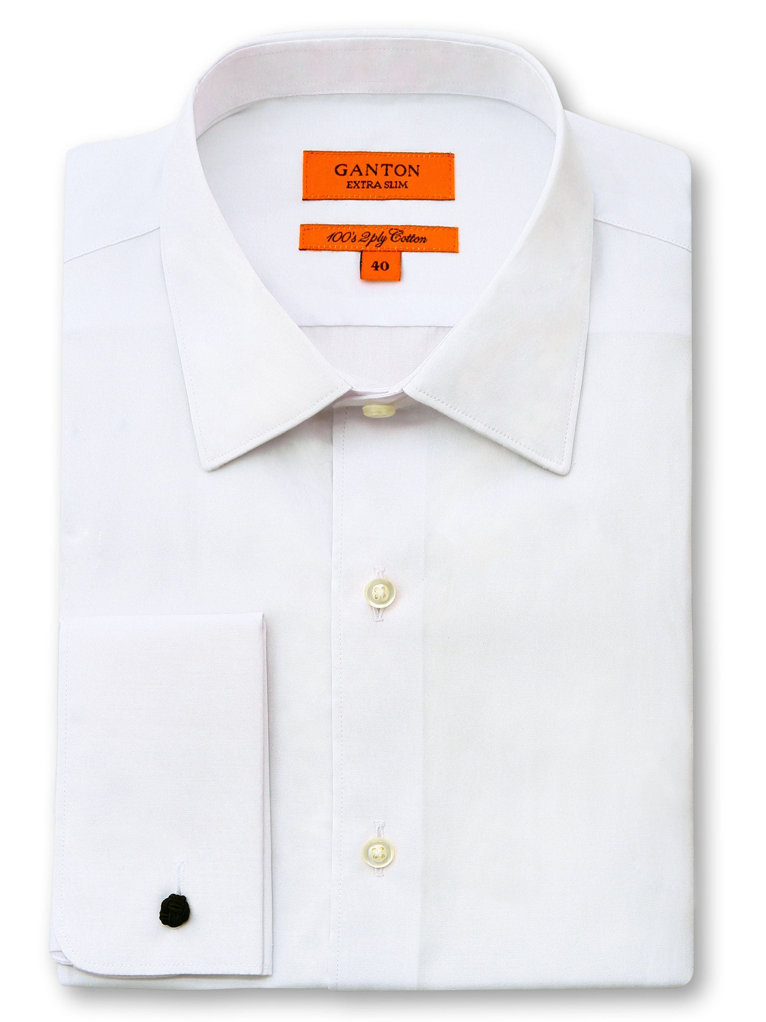 White Plain Slim Fit Teddy 2 Ply Cotton Shirt