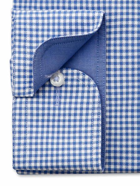 Blue White Check Tailored Fit Doyle Easy Iron Pure Cotton Shirt