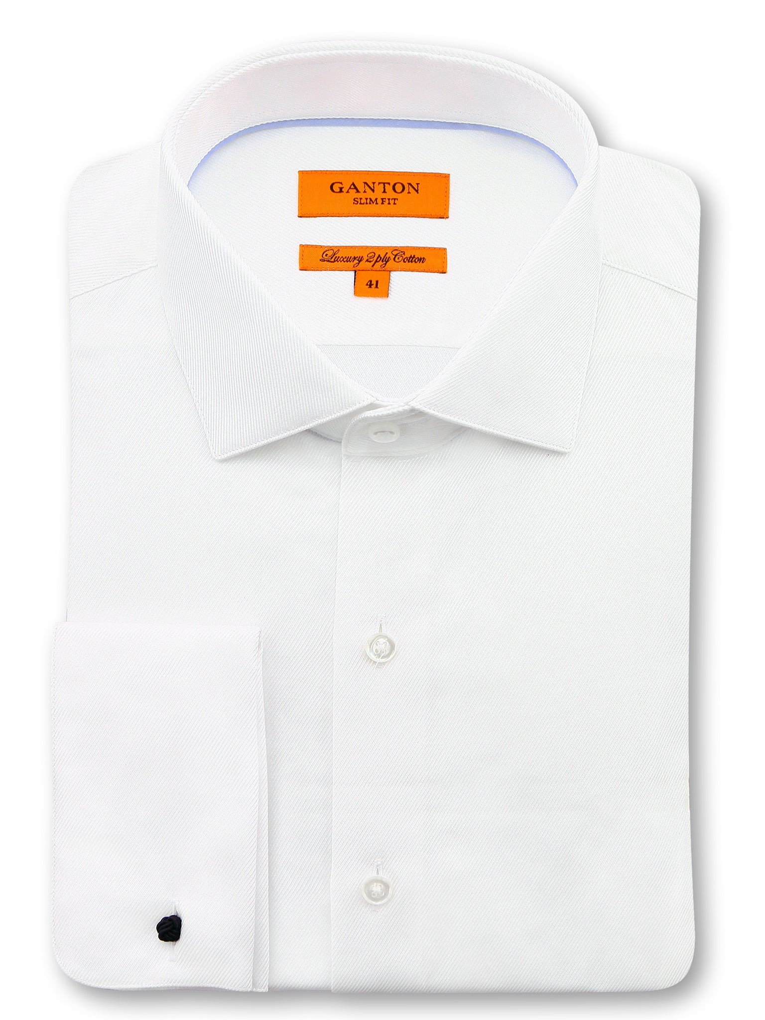 White Textured Slim Fit Darren Luxury 2 Pl,y Cotton Shirt