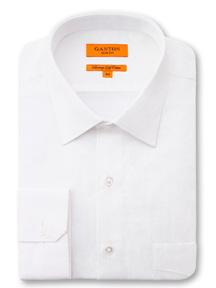 Gibson White Textured Shirt