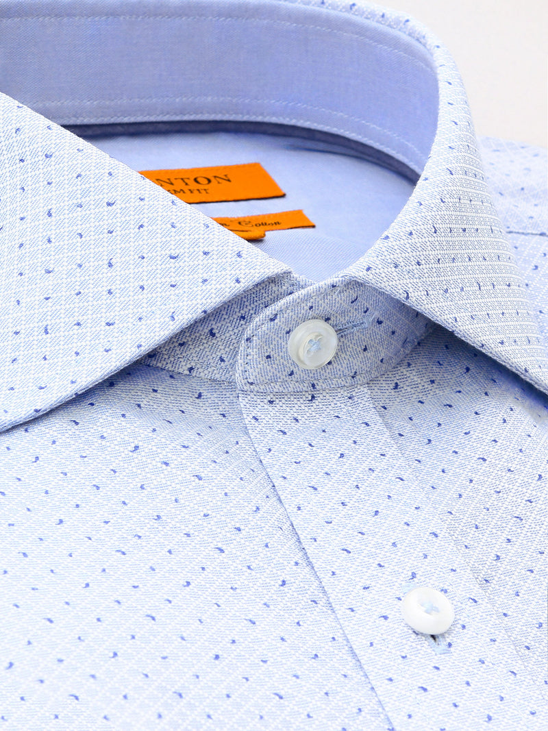 Blue Print Slim Fit Tyrone Egyptian Cotton Shirt