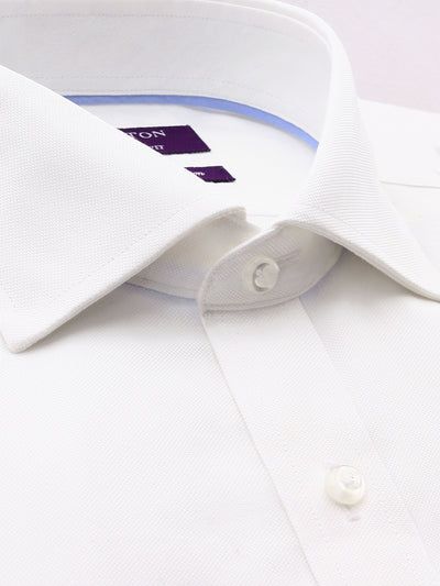 White Oxford Tailored Fit Terrance Luxury 2 Ply Cotton Shirt