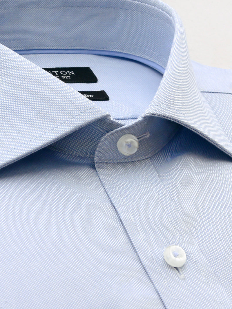 Blue Oxford Classic Fit Ted Luxury 2 Ply Cotton Shirt