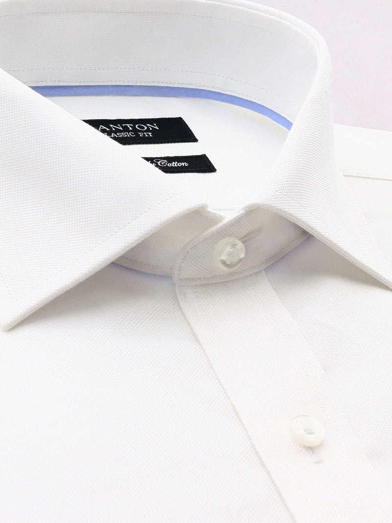 White Oxford Classic Fit Ted Luxury 2 Ply Cotton Shirt