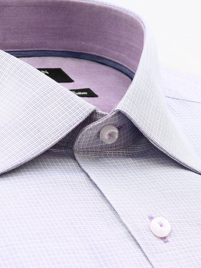 Light Pink Check Classic Fit Myles Pure Cotton Shirt