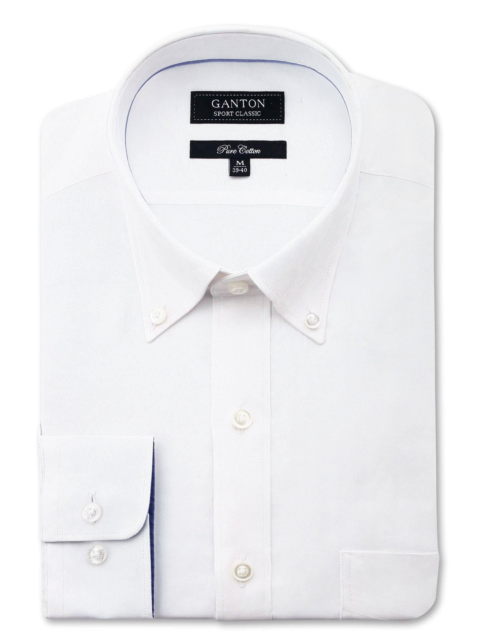 All White Oxford Classic Fit Floyd Pure Cotton Shirt