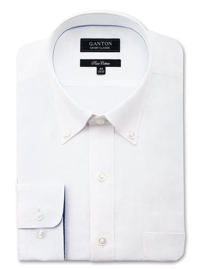 White Oxford Classic Fit Floyd Pure Cotton Shirt