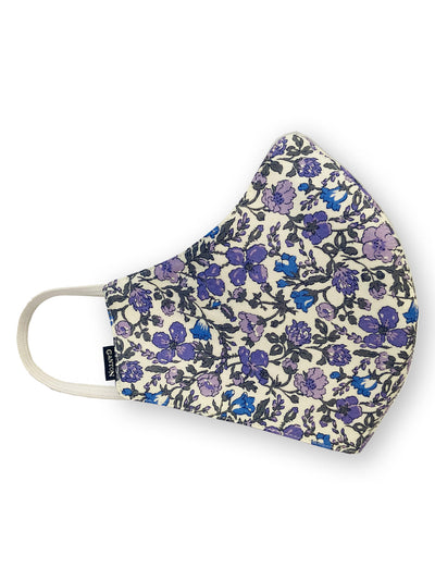 Lilac Floral Print Reversible Four Layer Washable Face Mask