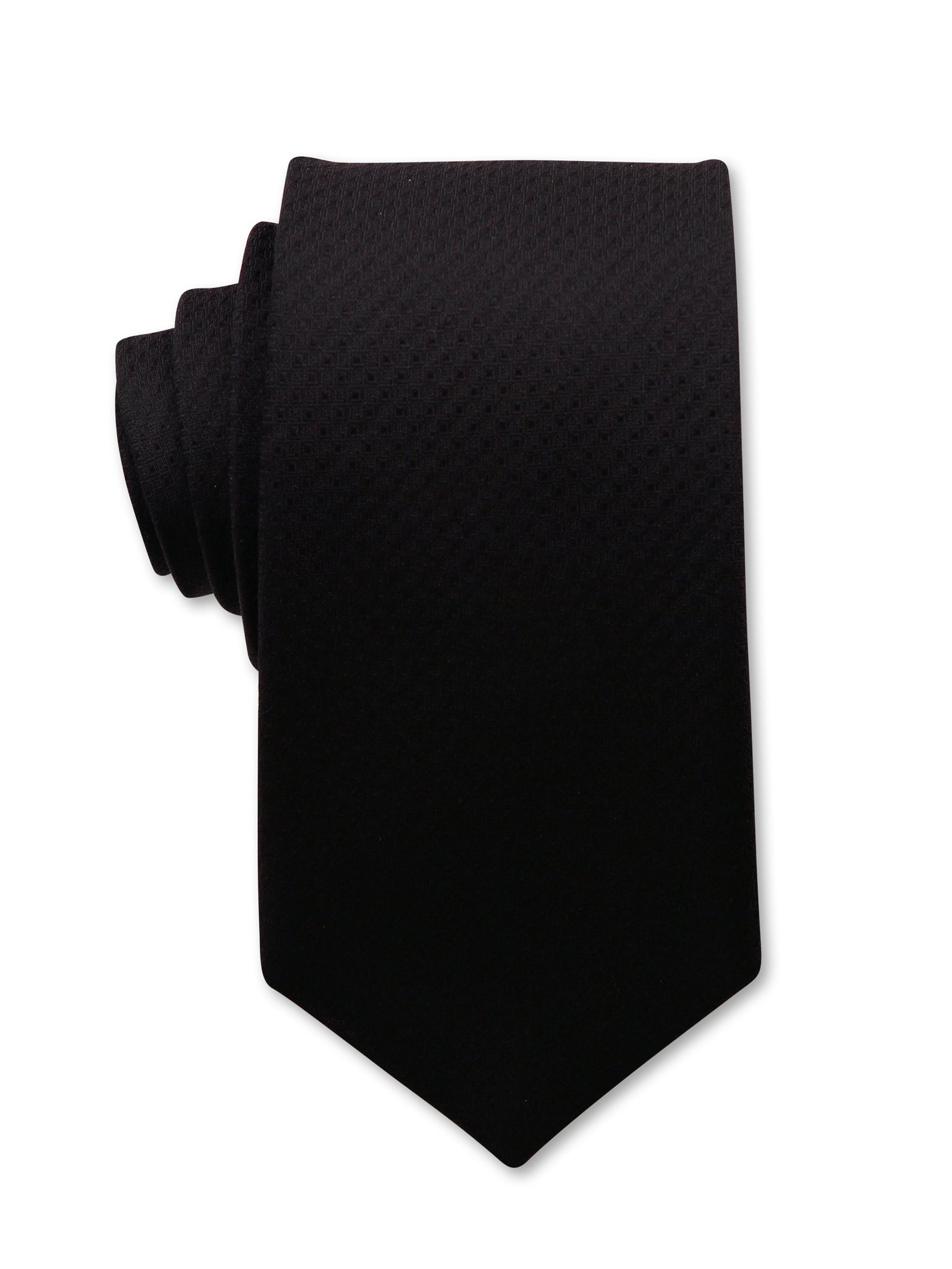 Black Textured 7cm Dean Luxury Silk Tie Made in Australia